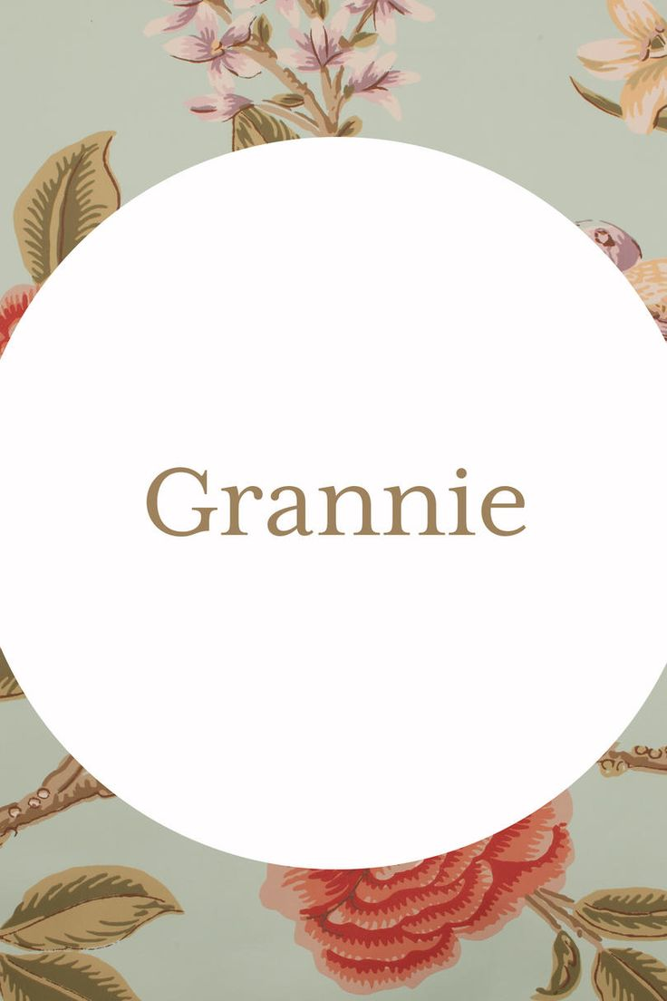Grannie | We've compiled our favorite nicknames for the family matriarch that are sure to inspire. Southern grandmothers are a national treasure. From their hilarious views on trendy food, to their tried-and-true traditions that warm us from the inside out, we can think of 1,0001 reasons why we're blessed to have these special women in our lives. If you were raised in the South, chances are there isn't a nickname for grandma that you haven't heard.