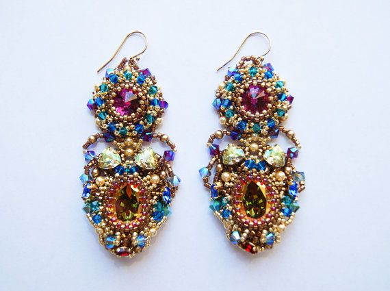 Earrings Jodha handmade earrings gift for her by LoveBeadJewerly