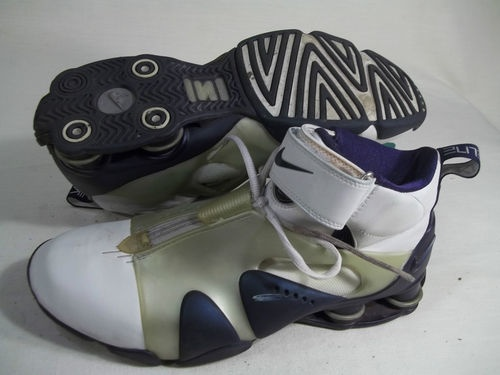 new product ee345 66a75 ... Sold NIKE SHOX STUNNER MENS SHOES WHITEMIDNIGHT NAVY SIZE 10.5  302918-141 ...
