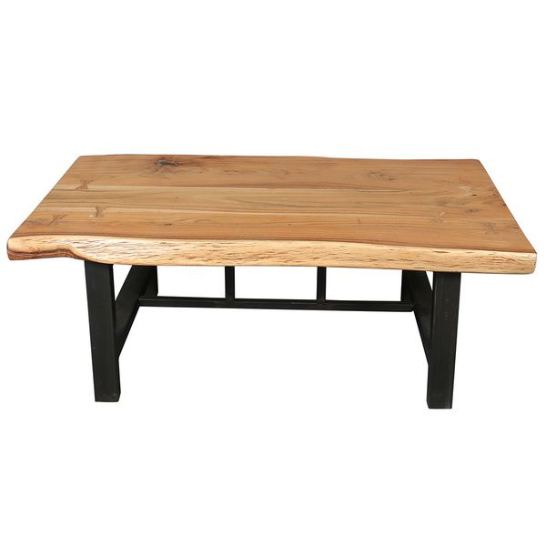 Porter Round Coffee Table: Porter Gresham Live Edge Sustainable Acacia Wood Coffee