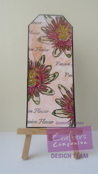 inkykitty: Passion Flower Gift Tag designed  by Gemma Hynes #crafterscompanion