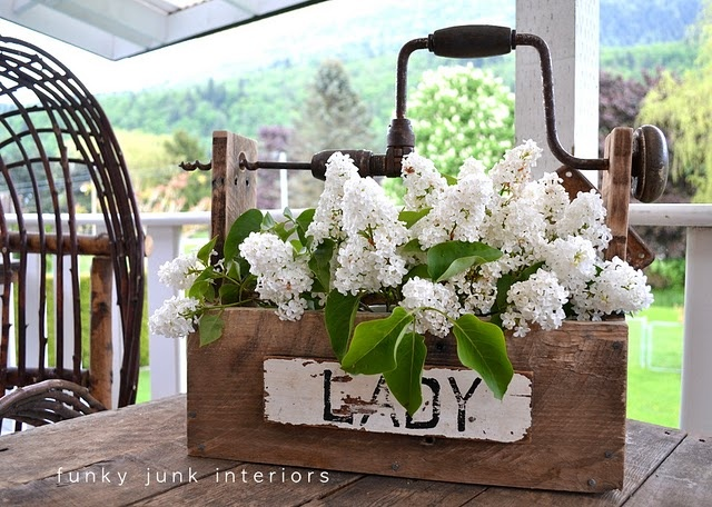 Tool Box: Idea, Toolbox, Tools Boxes, Gardens, Funky Junk Interiors, Woods Projects, Pallets Woods, Flower Boxes, Funkyjunk