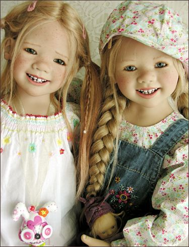 Sisters.  Dolls by Annette Himstedt