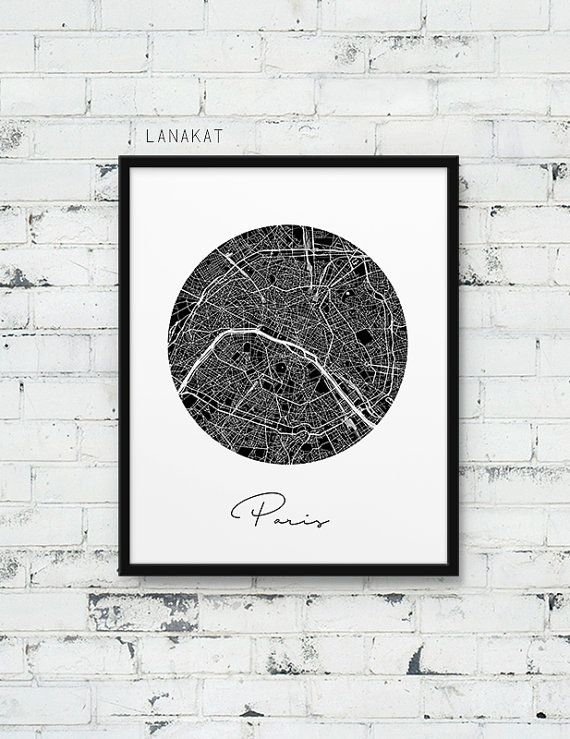 I N S T A N T - DO W N L O A D Paris City Street Map Poster. Paris Urban Map Print. Black & White Paris France Poster. Modern Wall Art Home Office Decor. Printable Art Printable art is a simple & affordable way to decorate your home or office. Print the files at home, a local print shop or online printing service. Choose the paper and frame you like and create your unique style! Save 30% off by ordering 3 or more prints. Use coupon SAVE30 at checkout. F I L E S – I N C L U D E D: ...