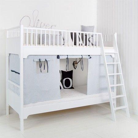 двухъярусная кровать детская со шторами minimoi