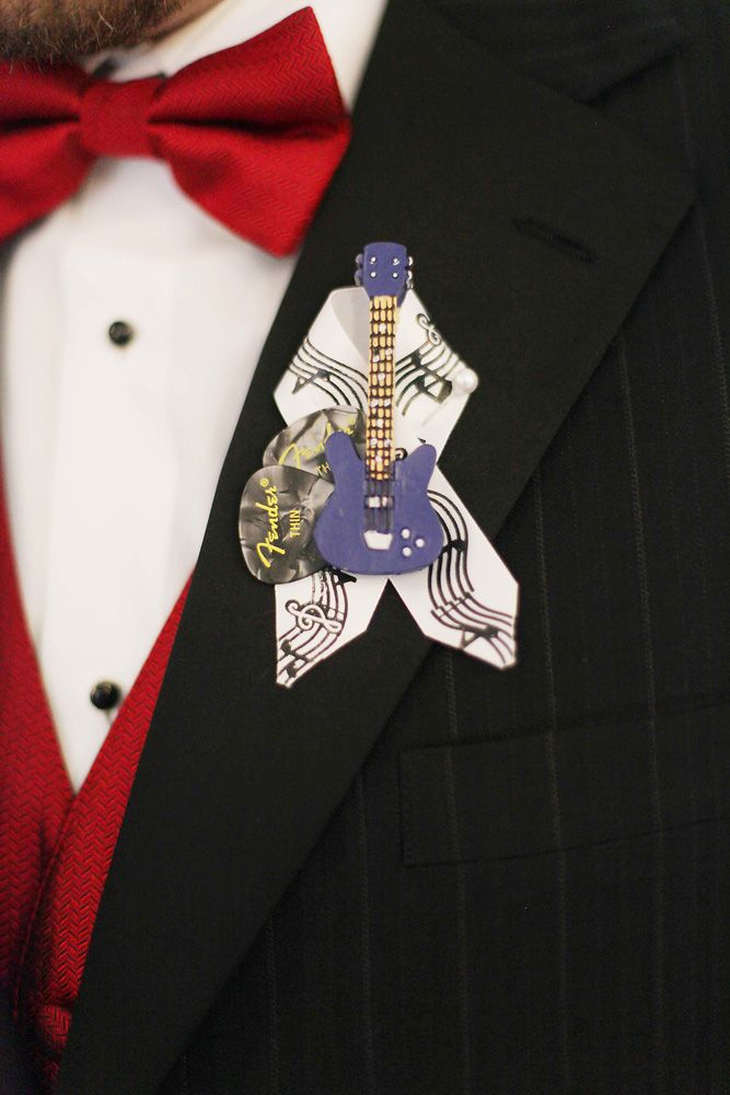 Music Themed Wedding with Red Touches: Melanie & Josh