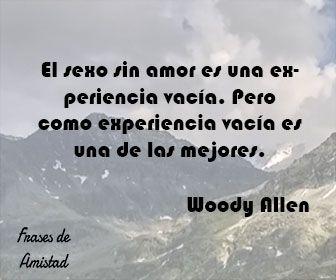 Frases de sexo de Woody Allen