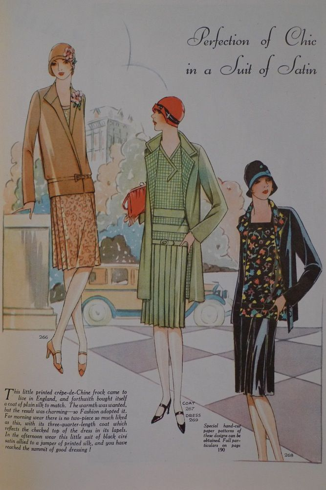Perfection of Chic in the Suit of Satin, Woman's Journal, 1927
