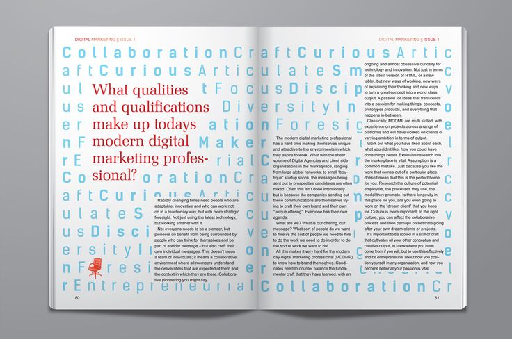 Magazine design and illustration // layout, print, typography