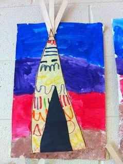 Native Americans - teepee craft
