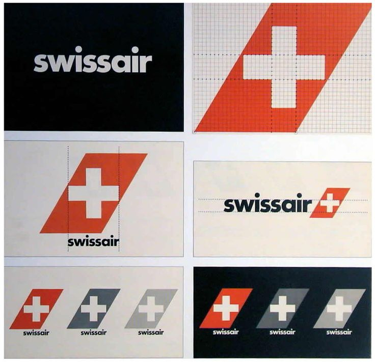 swiss air branding