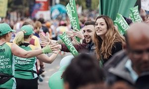 NSPCC cheerpoint in the Virgin Money London Marathon 2015