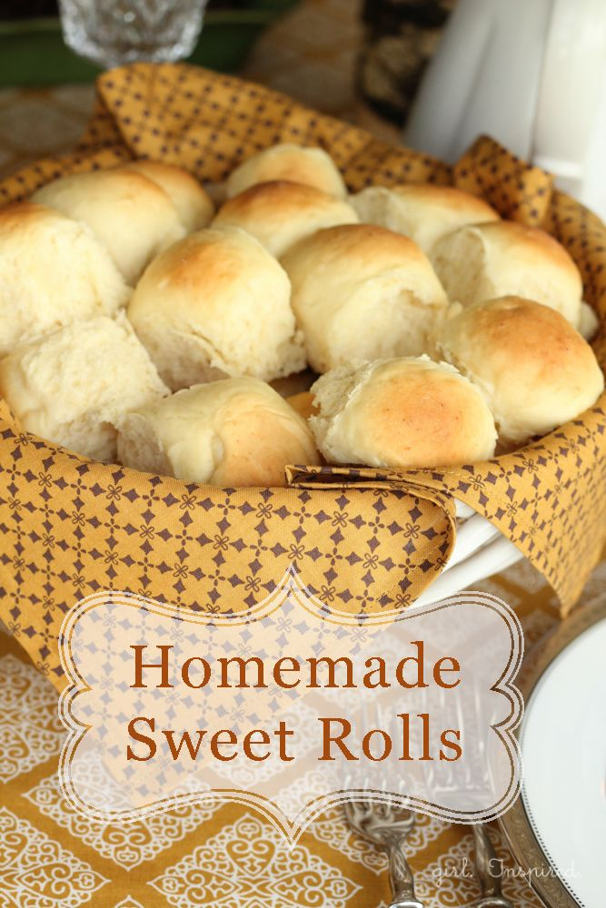 Homemade Sweet Dinner Rolls - these are absolutely the best rolls ever!!