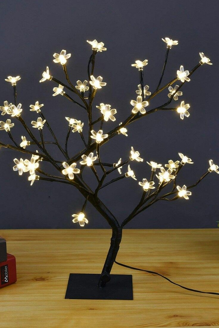 Lightshare 18 Inch Cherry Blossom Bonsai Tree 48 Led Lights 24v Ul Listed Adapter Included Metal Base War Cherry Blossom Bonsai Tree Night Light Led Lights