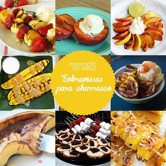 Sobremesas para churrasco - frutas grelhadas / Gulab