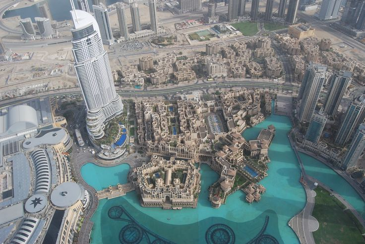 View of wl fountain from Burj Khalifa, Dubai