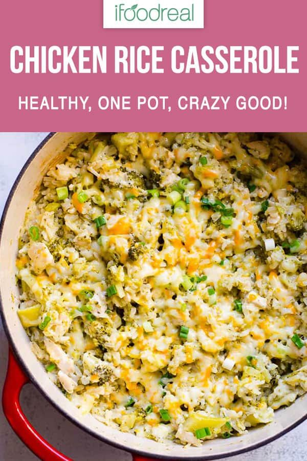 Healthy Chicken And Rice Casserole Recipe With Brown Rice Broccoli And No Canne Healthy Casserole Recipes Chicken Casserole Recipes Healthy Brown Rice Recipes