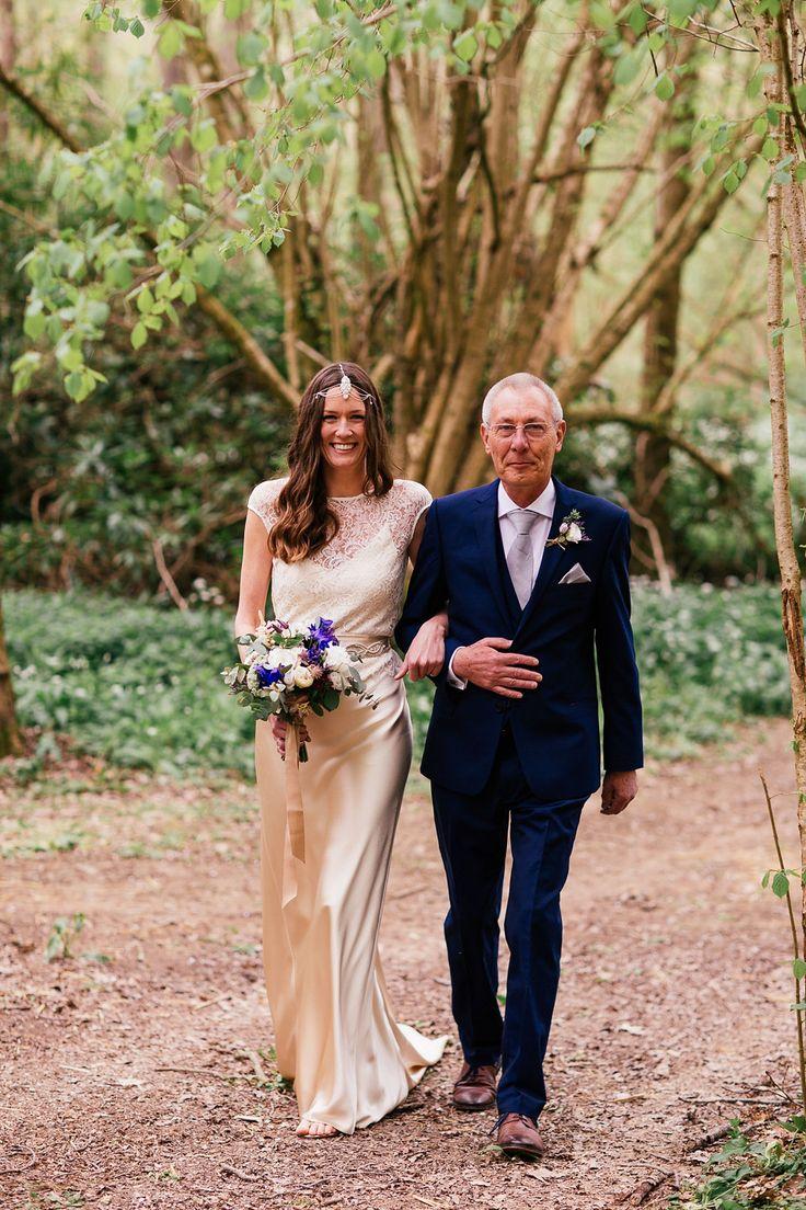 Real Bride Amelia Wore Her Bias Cut Slip Style Wedding Dress Elsa With