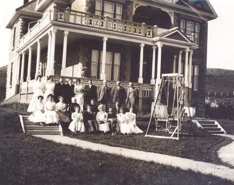 Shipley's wedding, Mahon house, Okotoks, AB. - Alberta On Record