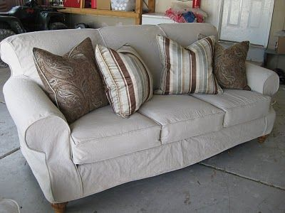 23 best Sofa Slipcover DIY images on Pinterest Drop cloth