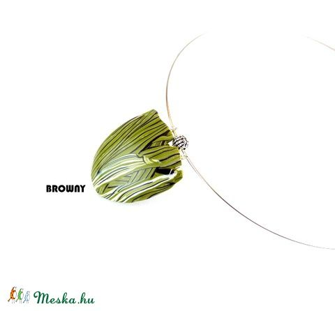 Meska - Zöld   egyedi mintás  nyaklánc