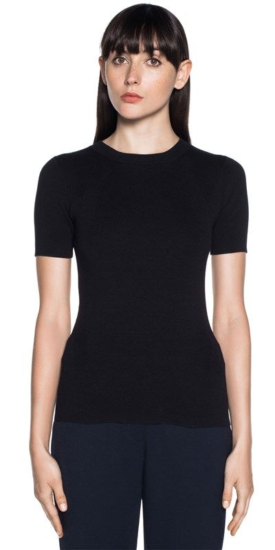 Wear to Work | Short Sleeve Contour Rib Knit