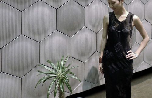 3d concrete wall tile geometric pattern optic hex for 3d concrete tiles
