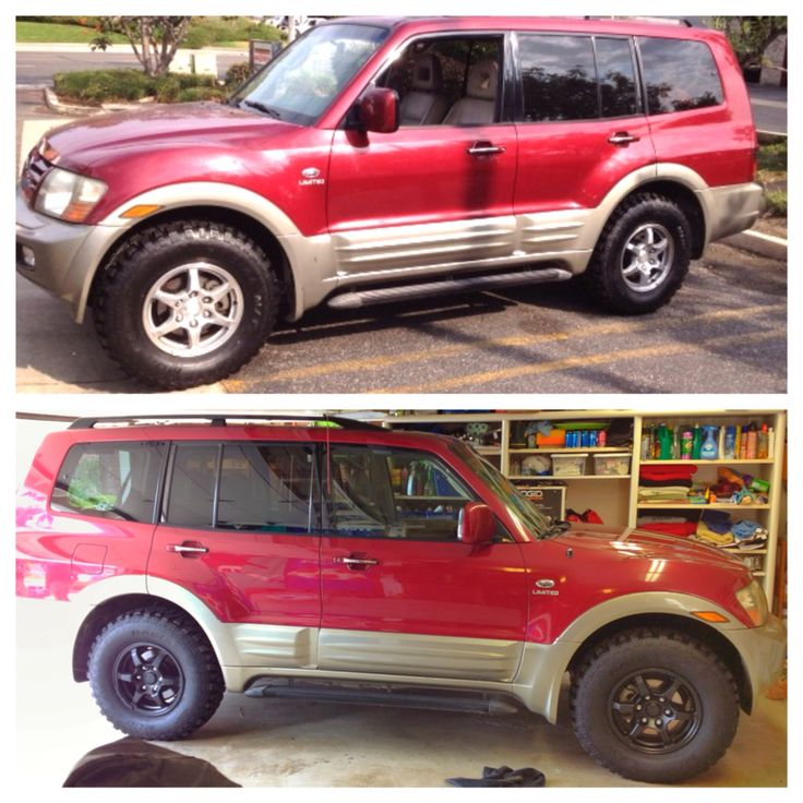 plasti dip special same everything just painted the rims - Mitsubishi Montero 2002 Custom