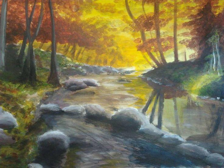 paisajes, acrilico