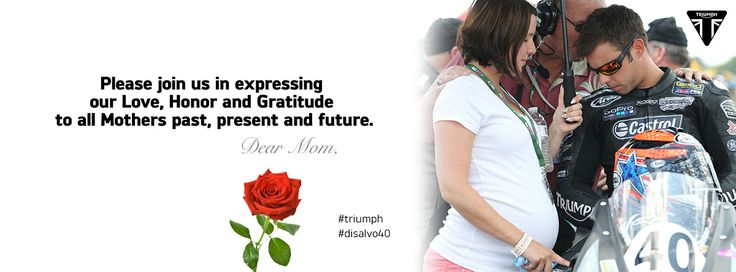 #mom #womenwelove #triumph Find extraordinary Triumph gear, clothing and accessories for the women you love at shop.triumphmotorcycles.com (Canada: shop.triumph-motorcycles.ca) and at your local Triumph dealers. Flowers not included.