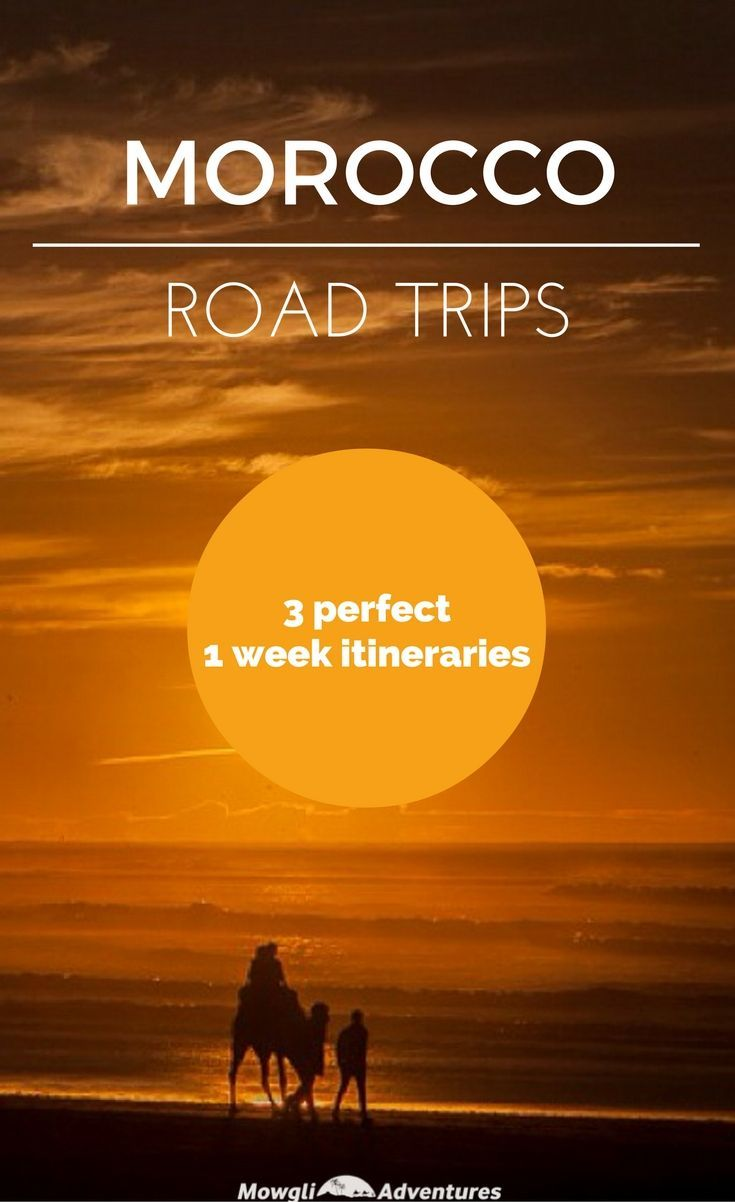 Are you planning a road trip in Morocco but don't have much time? Try these 1 week road trip itineraries in Morocco - you'll be amazed how much you can see! Complete with places to stay, route plans, maps and much more. #Morocco #RoadTrip #Travel Find out more by clicking on the following link: mowgli-adventures...