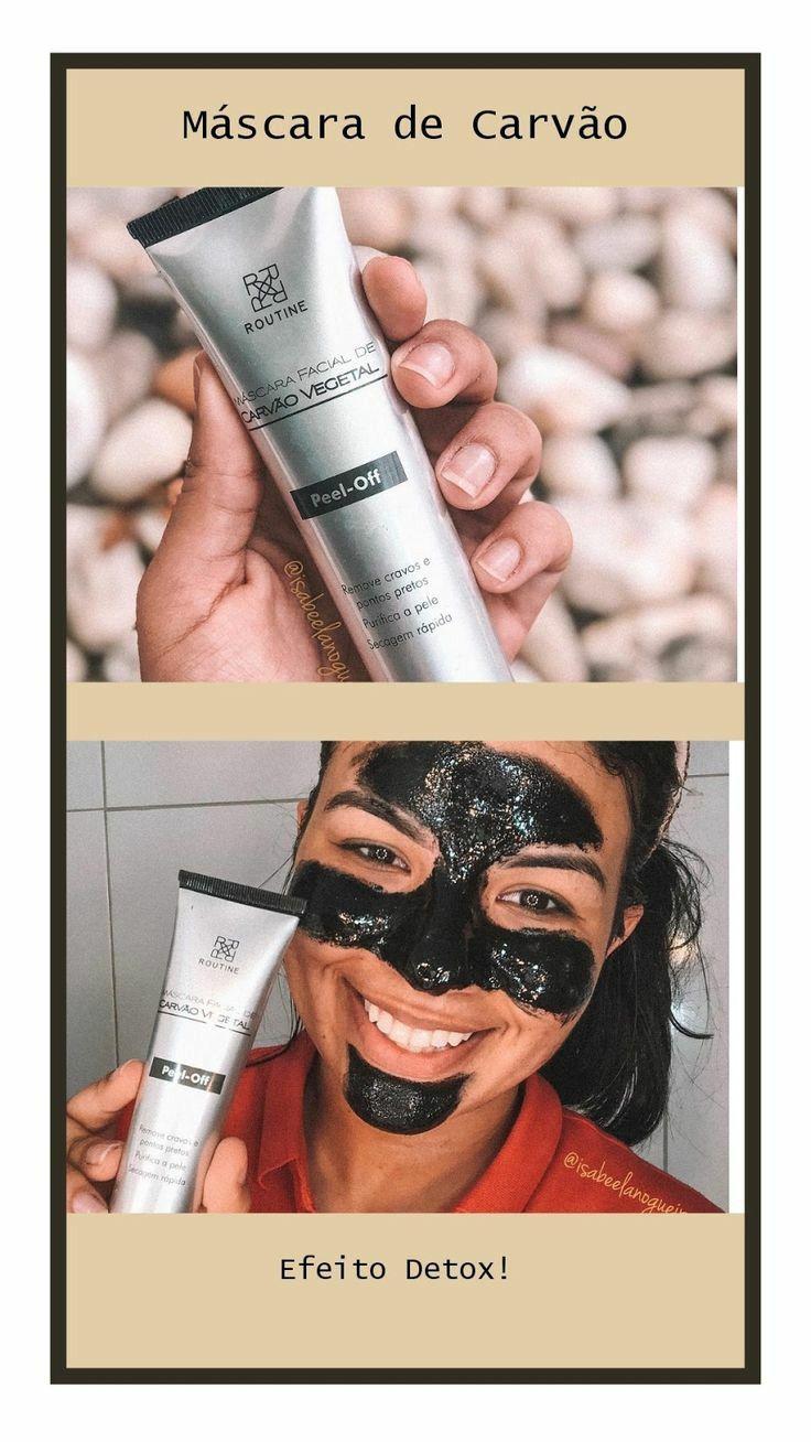 mascara de carvão em 2020 Máscara de carvão, Maquiagem
