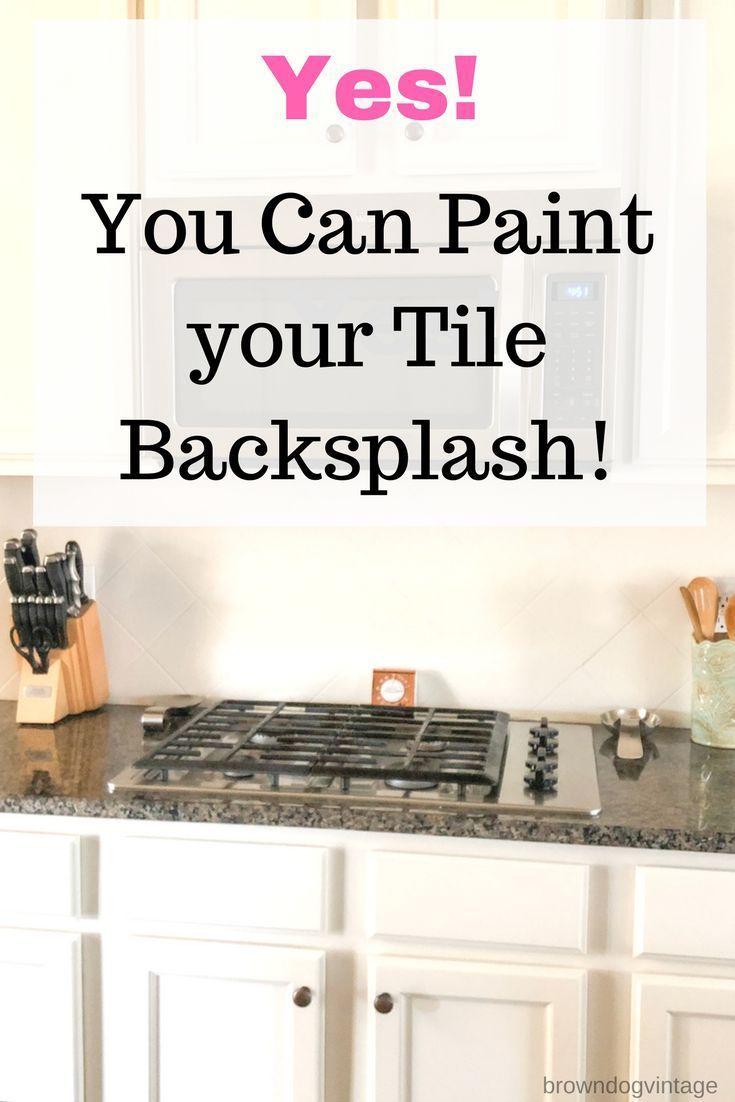 Painting Tile Backsplash See How It Looks A Year Later Ceramic Tile Backsplash Painting Kitchen Tiles Painting Tile Backsplash