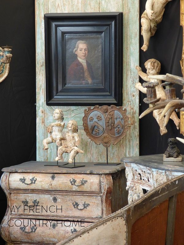 antiques at the chatou brocante fair