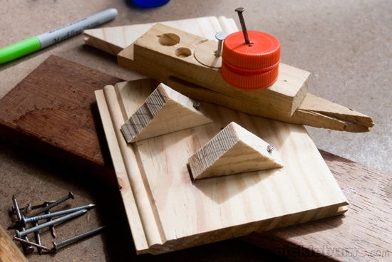 Katy No Pocket - Let the kids try their hand at some woodwork using real hammers and nails.