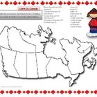 This is a blank map of Canada for students to fill in. Have them fill in the provinces, territories, and the oceans that border Canada. A great sup...