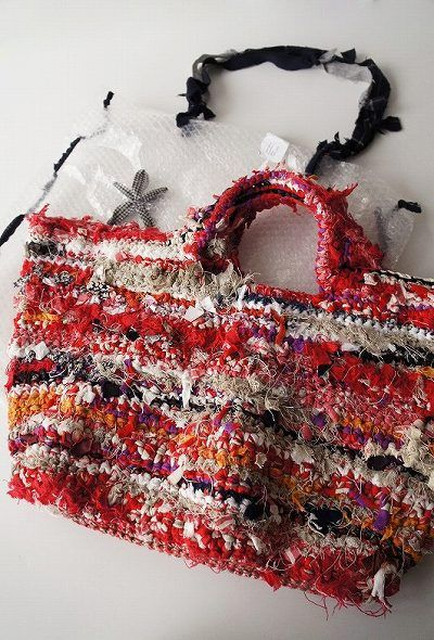 Beauty DANIELA GREGIS with bubble wrap bag crochet Tote * expensive purchase arrangements in *