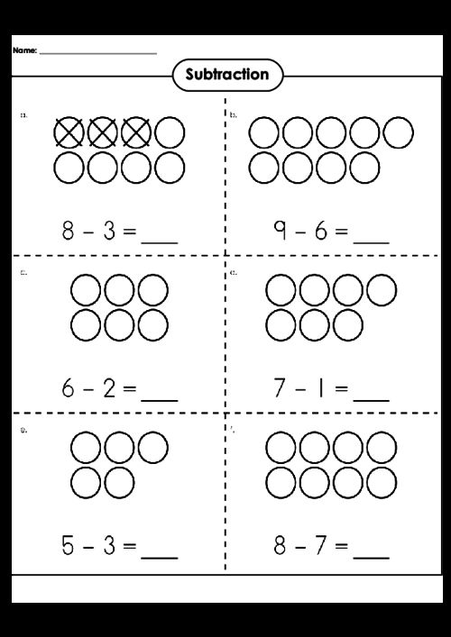59 best Subtraction Practice Worksheets images on