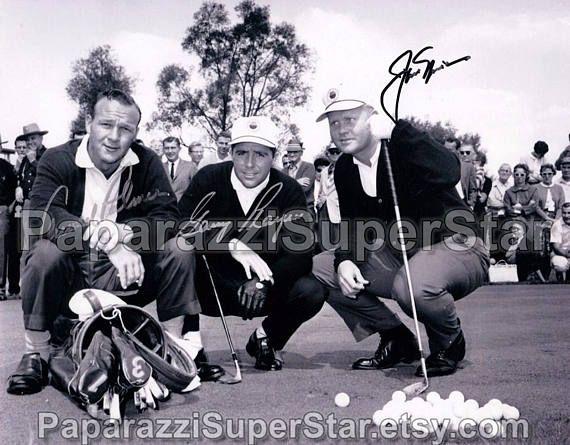 Jack Nicklaus / Arnold Palmer / Gary Player signed 8x10