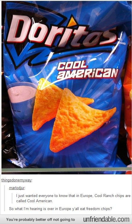 Seriously? Freedom Chips.With Liberty dip. 'Merica.