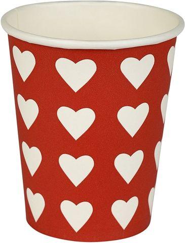 Engångsbägare, Christmas 25 cl, 25 cl 20-pack, 3108837, julbordet, juldekorationer, julpynt, vitt, rött, vit, röd, juldukning, hjärtan, engångsmugg, engångsbägare, pappersmugg, pappersbägare, mugg