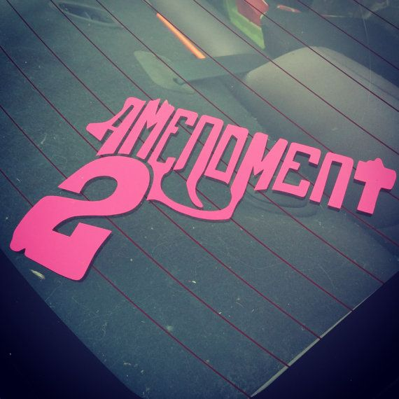 Second amendment gun decal by xosoutherncharm on etsy