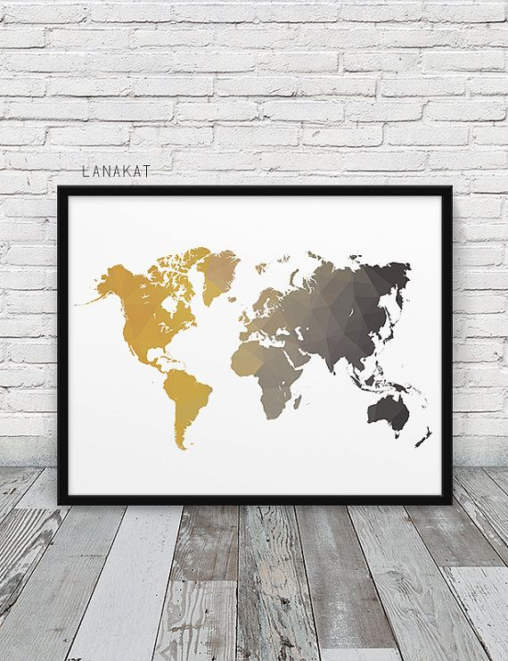 I N S T A N T - DO W N L O A D World Map Geometric Print. Mustard Yellow Grey Triangles Print World Map Geometric Art. Modern Wall Art Home Office Decor. Printable Printable art is a simple & affordable way to decorate your home or office. Print the files at home, a local print shop or online printing service. Choose the paper and frame you like and create your unique style! Save 30% off by ordering 3 or more prints. Use coupon SAVE30 at checkout. F I L E S – I N C L U D E D: 1 JPG ...