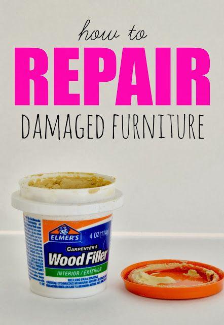 How to repair damaged furniture!