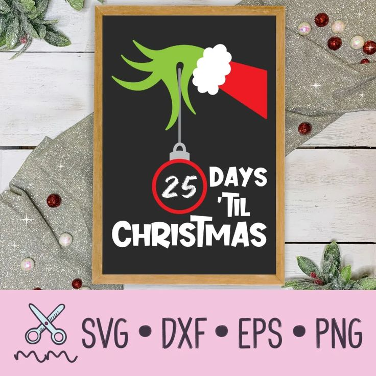 Christmas Countdown Ornament SVG The Modish Maker in