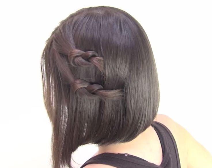 Unos ✱✱ faciles tutoriales paso a paso de peinados para cabello corto ✱✱,
