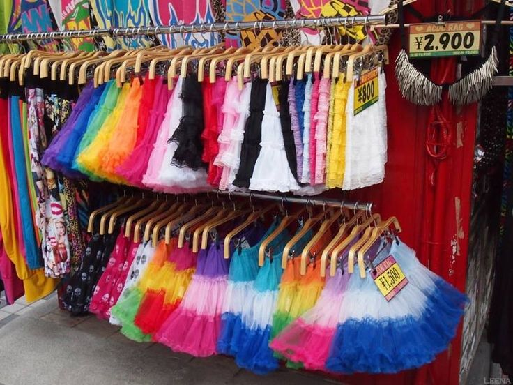 Japan, Tokyo, Harajuku: colourful tulle skirts
