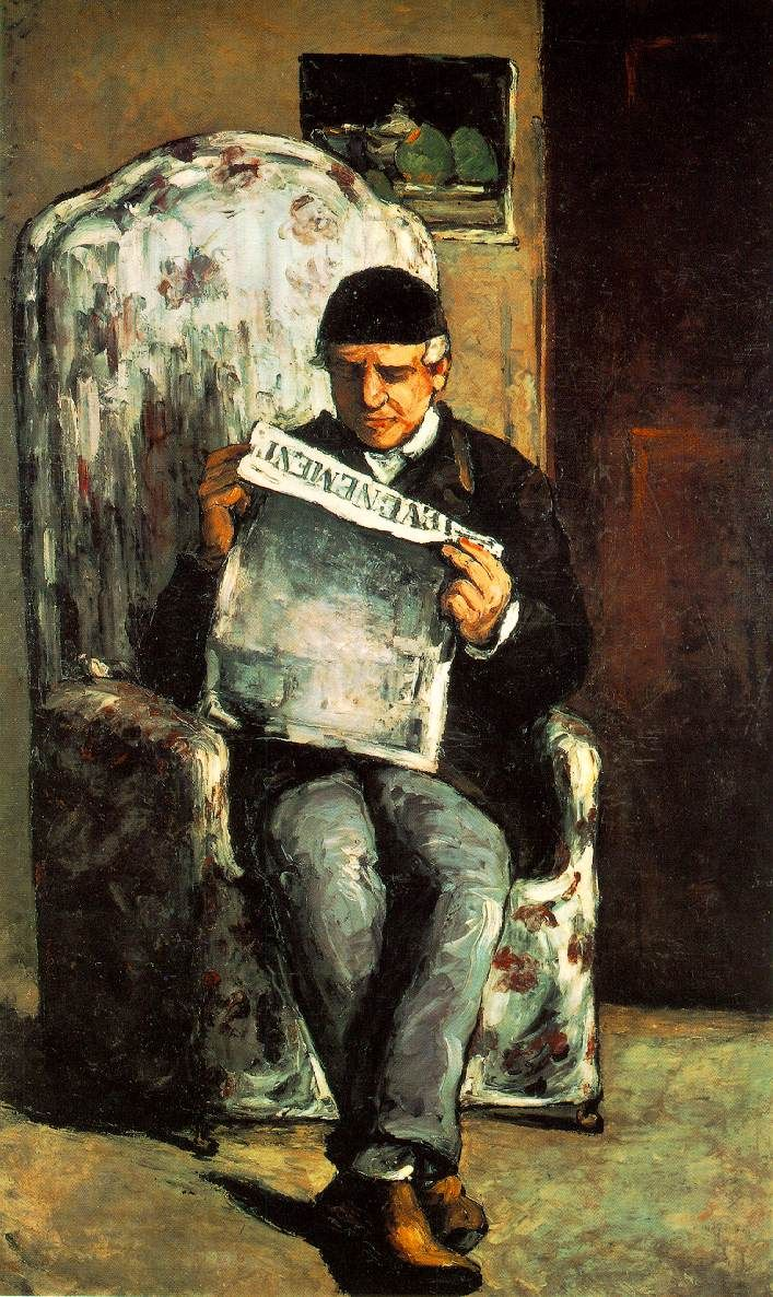Cezanne. Portrait of his father. Hangs in National Gallery in D.C. Fantastic.