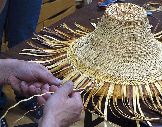 How To Make A Basket Weave Hat : Best images about cedar bark weaving on mom