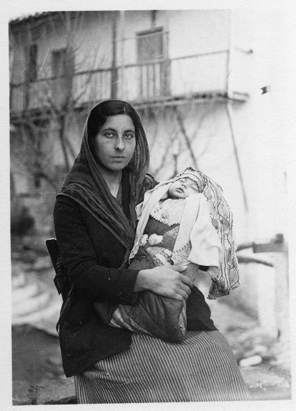 Dorothy Burr Thompson (American, 1900-2001): Woman with Infant, Skyros, 1931. Image courtesy of American School of Classical Studies at Athens, Archives, Dorothy Burr Thompson Photographic Collection